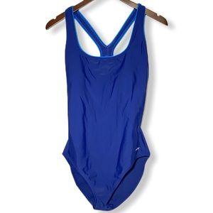 Speedo Size 14 One Piece Swimsuit Royal Blue